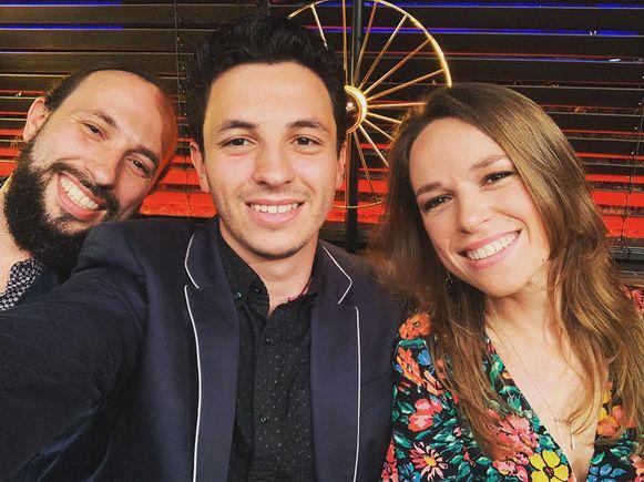 De drie kinderen: Francesco, Junior en Stephanie onlangs bij 'Gert late Night'