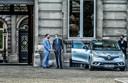 Bart De Wever (N-VA) en Paul Magnette (PS) voor het paleis. Vooral uit Vlaamse hoek zou een premierschap van Magnette op felle weerstand botsen.