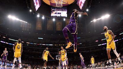 Celtics en Lakers moeten zwoegen, LeBron James pakt uit met monsterachtige dunk