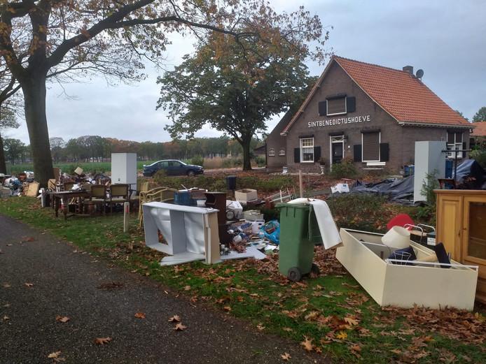 De woning aan de Vinkenweg in Deurne.