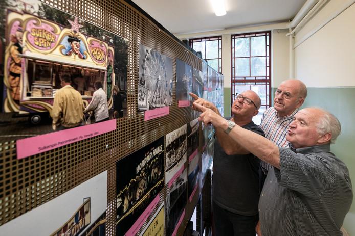 De mannen achter de expositie over de kermis van Waalwijk: Hennie van Oers, Henk Annemaat en Ad Nijssen (v.l.n.r.) .