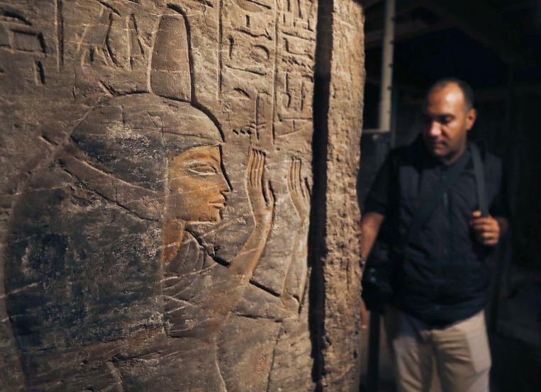 Een muur van de Khufu-Imhat-tombe.
