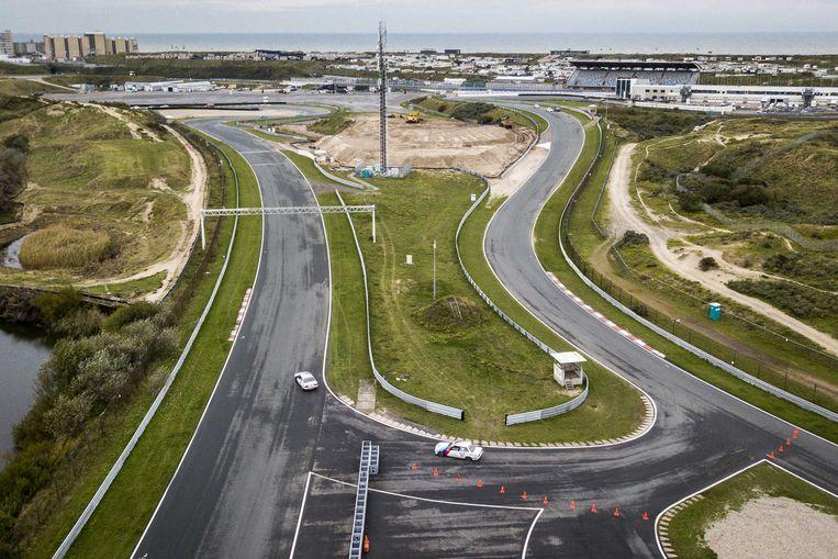 Circuit Zandvoort; op het terrein wordt gewerkt aan de hoofdtribune. Beeld ANP