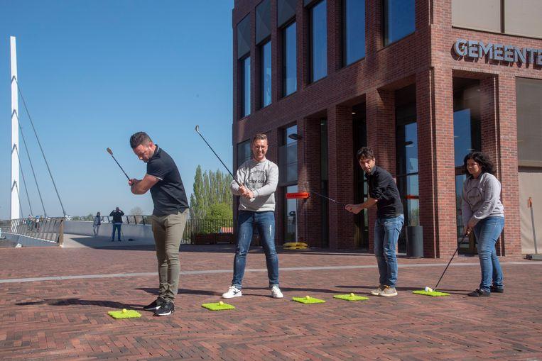 Voortaan kan je ook golfen in het centrum van Wetteren met de Dienst Toerisme en City Golf.