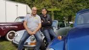 Oldtimers en luxewagens palmen Park van Brasschaat in