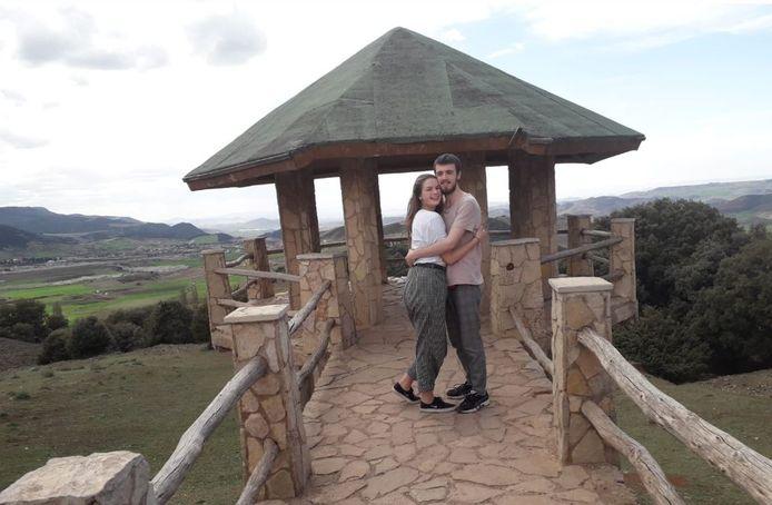 Judith (18) en Noah (20) in Marokko.