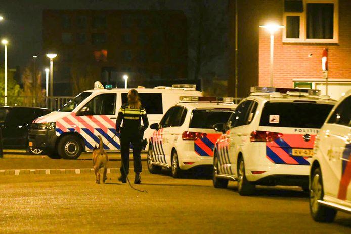 De politie zette speurhonden in, maar de vermoedelijke plofkrakers werden niet meer gevonden.