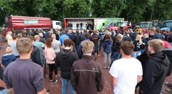 Boerenprotest in Emmeloord.