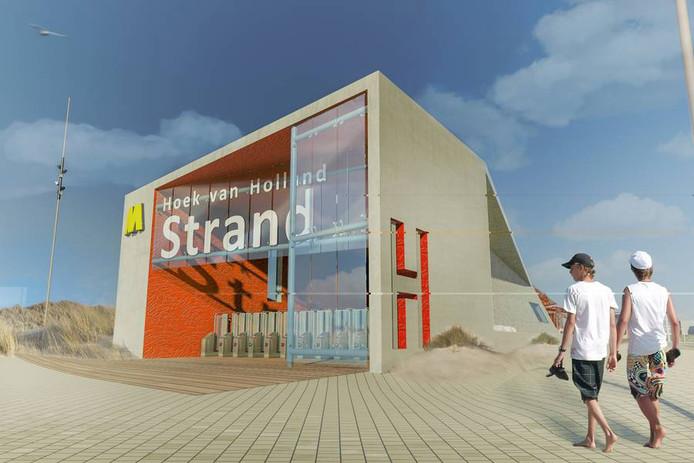 Het gaat om een enkelspoor vanaf de haven tot aan het strand Hoek van Holland over een lengte van 1100 meter dat volgens planning in 2021 in gebruik wordt genomen.