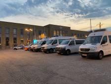 Ook grote politiemacht in Brugs station, om overstap vanuit Blankenberge in goede banen te leiden