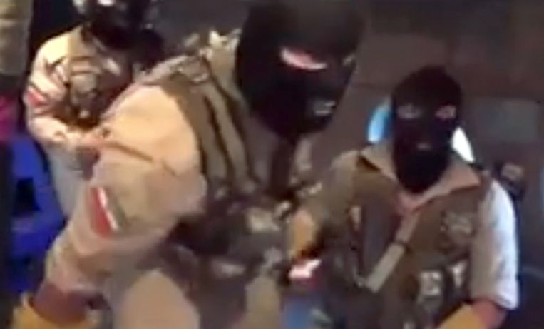 Een fragment uit een video van de Iraanse Revolutionaire Garde. Beeld EPA
