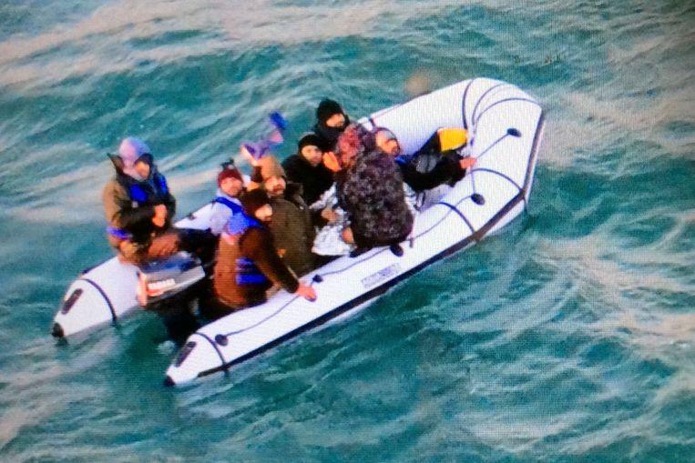 Archieffoto van bootvluchtelingen op het Kanaal.