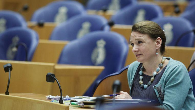 VVD-Kamerlid Schut in de Tweede Kamer op een foto van april vorig jaar. Beeld anp
