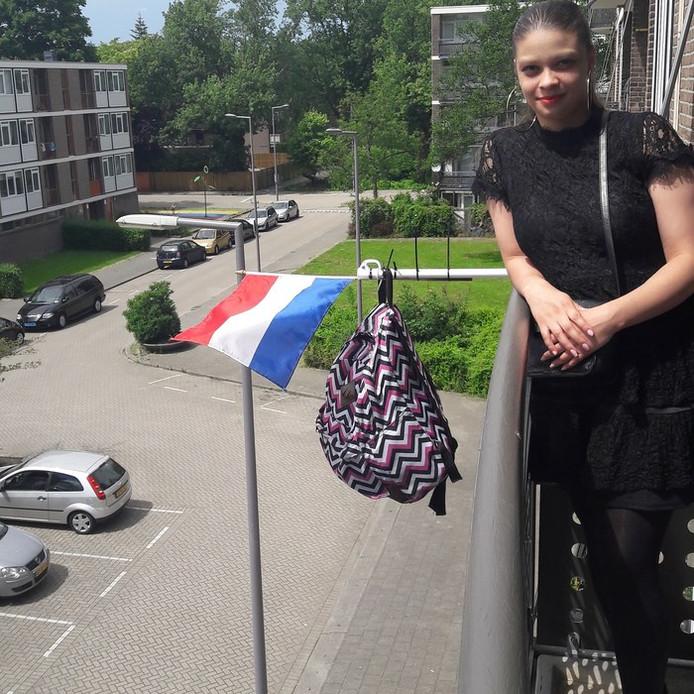 Kayleigh Sitton (16) uit Rotterdam .