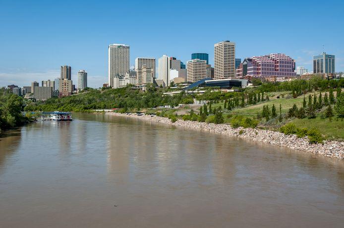 De skyline van de Canadese stad Edmonton.
