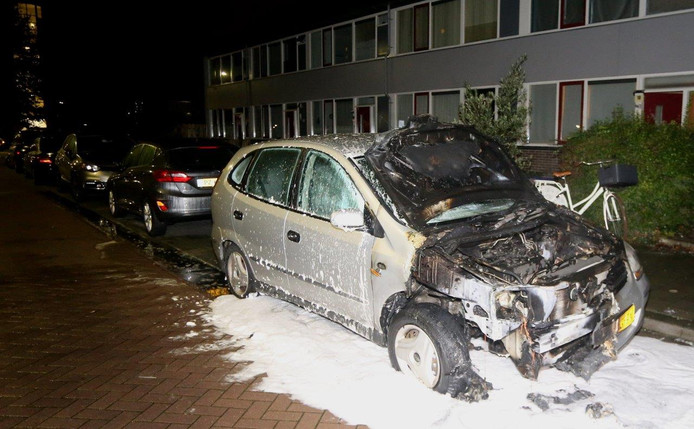 De auto was niet meer te redden