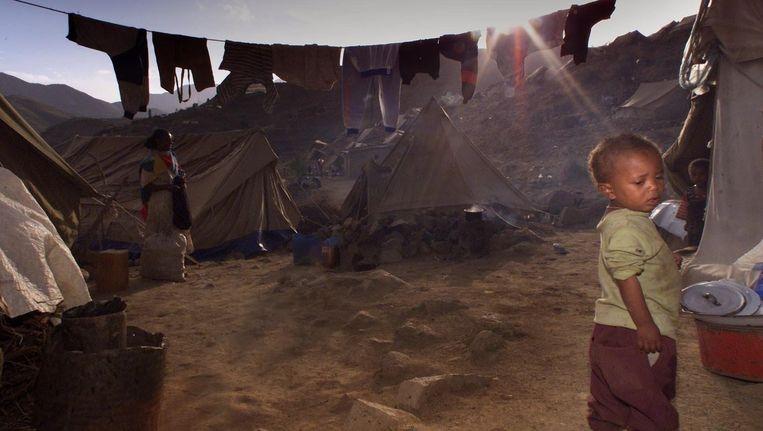 Een Eritrees jongetje in een vluchtelingenkamp. Beeld anp