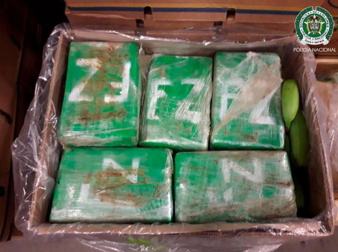Een deel van de onderschepte lading cocaïne.