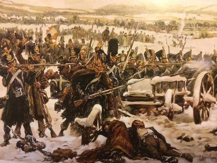 Nederlandse infanteristen, 43 uit Oss, 84 uit de regio, vechten tegen Rusland (1812) (Nationaal Militair Museum)