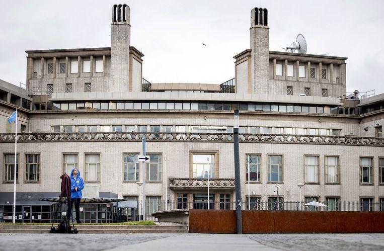 Het gebouw van het Joegoslavië-tribunaal in Den Haag.  Beeld EPA