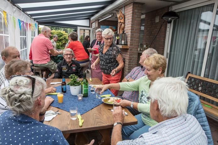 De slaatjes van Els Jansen vielen bijzonder in de smaak.