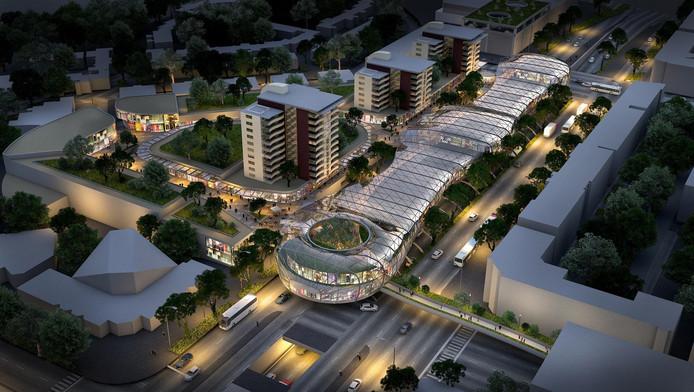 Zo zou de nieuwe 'mall' er uit komen te zien.