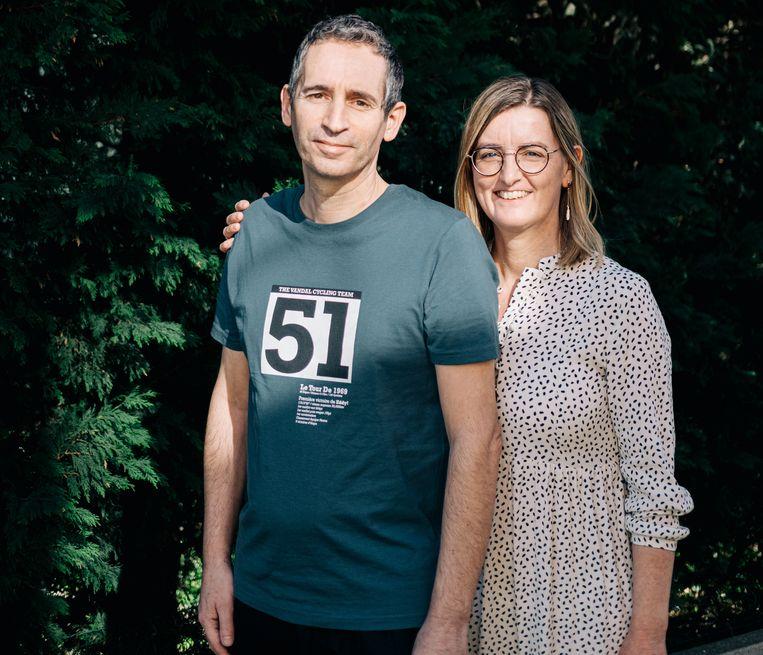 Gino Vannieuwenhuyze en zijn vrouw Cindy Van Eyck.  Beeld Wouter Van Vooren