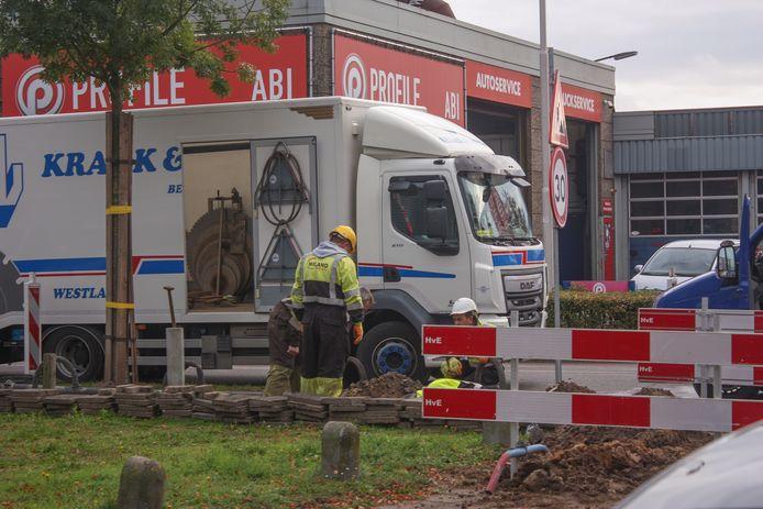 Bij graafwerkzaamheden aan de Neonweg in Amersfoort is een gaslek ontstaan.