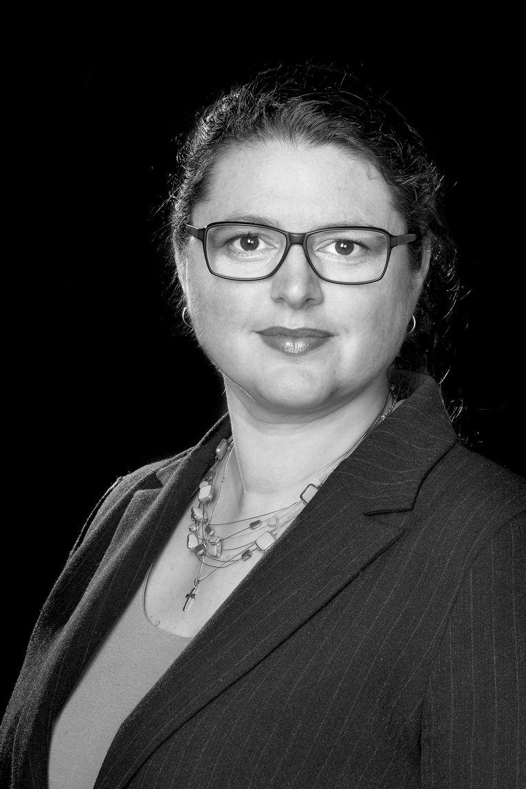 Hélène de Bruine, duoraadslid ChristenUnie Amsterdam. Beeld -