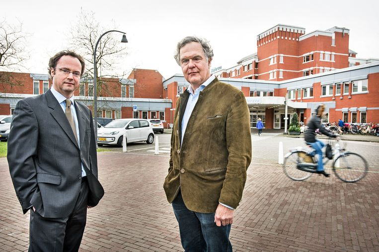 Loek de Winter, rechts, en Willem de Boer. Beeld Guus Dubbelman / de Volkskrant