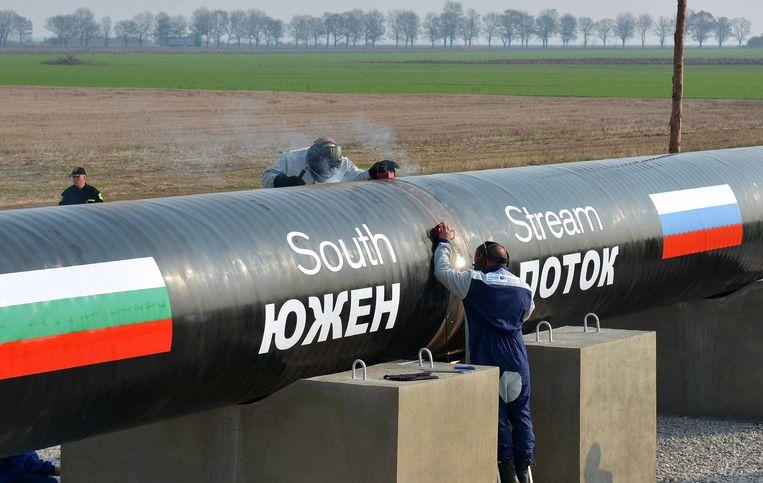 Gaspijpleiding South Stream loopt vanuit Rusland via Bulgarije naar Europa. Beeld null