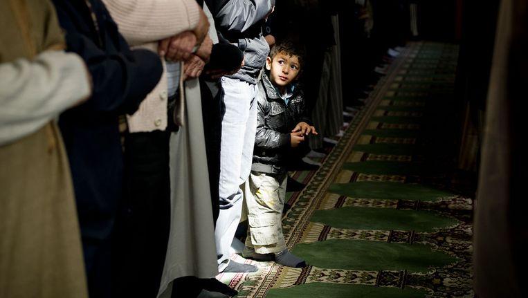 Gebed in een moskee. Beeld ANP