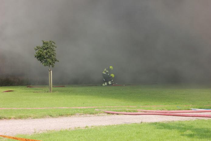 Grote brand in Erichem.