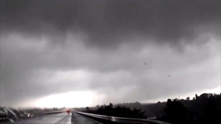 De tornado in Zuid-Frankrijk
