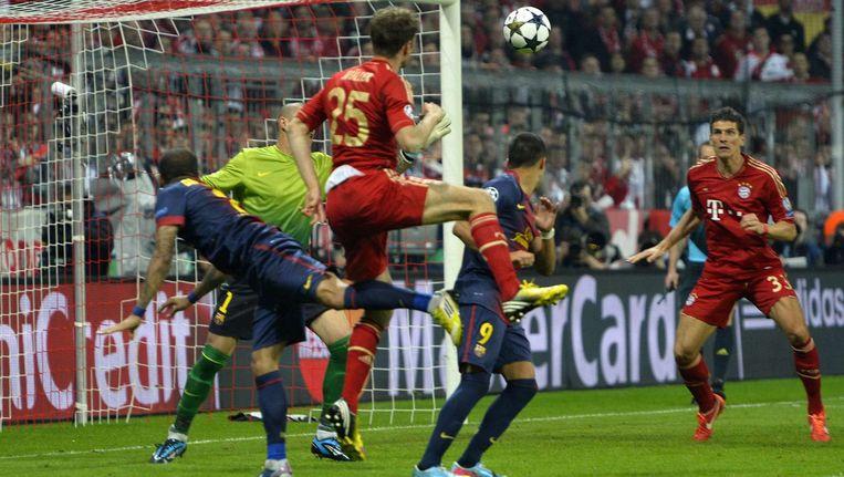 FC Barcelona tegen Bayern München in 2013. Beeld ap