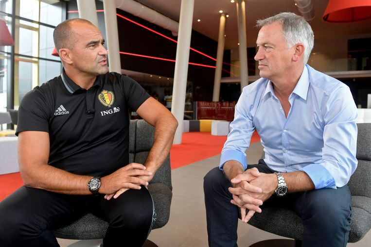 Marc Degryse in een eerder interview met bondscoach Roberto Martínez.