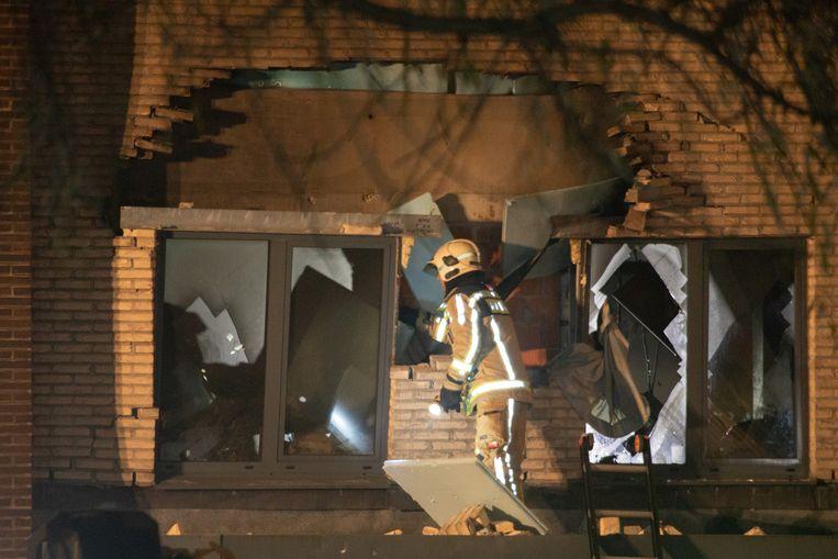 De ontploffing veroorzaakte heel wat schade op de eerste verdieping van het zorgcentrum.