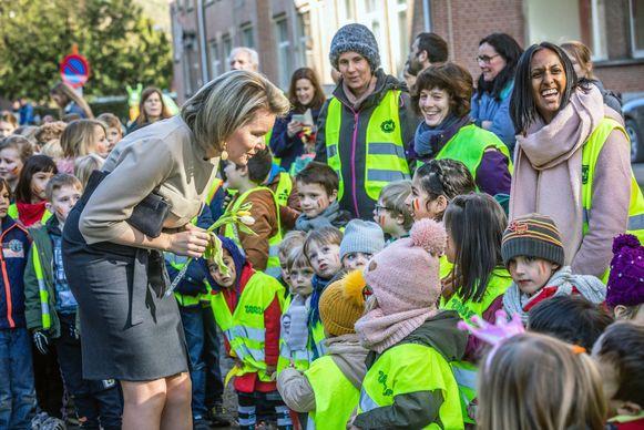 Koningin Mathilde op bezoek bij Ave Regina. Foto RV.