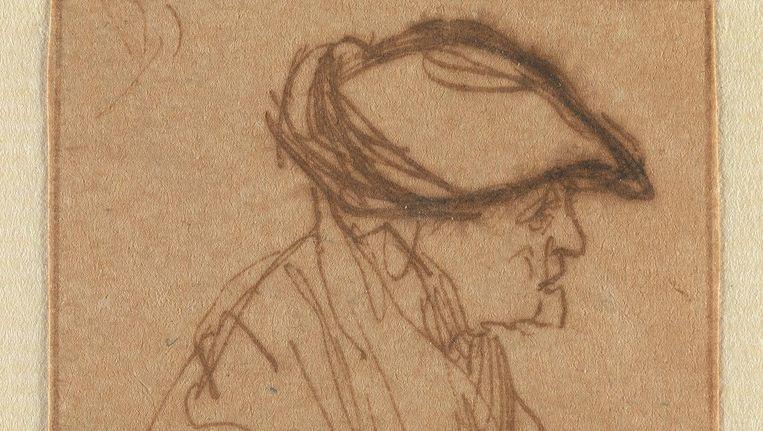Rembrandt van Rijn, een oude vrouw met een platte muts. Beeld Monique Vermeulen