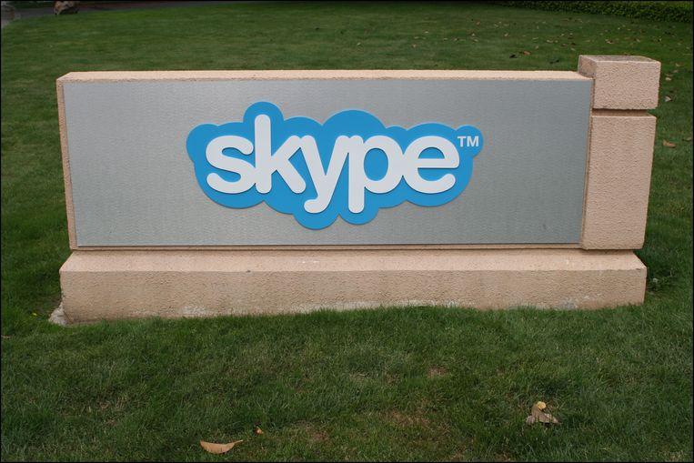 Het hoofdkantoor van Skype in Silicon Valley.