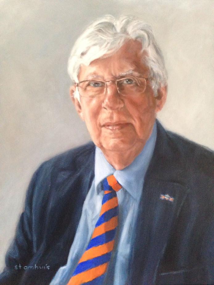 Een geschilderd portret van Han Luchies.