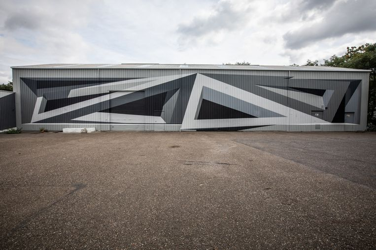3D-muurschildering door Shozy in Het XPand in Beringen.