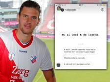 Michiel Kramer reageert gevat op haatbericht FC Utrecht-fan: 'Nu al voel ik de liefde'