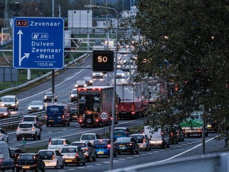 Automobilisten gaan op de vlucht voor almaar oplopende files bij Arnhem en Zevenaar