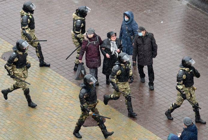 Oproerpolitie in Minsk