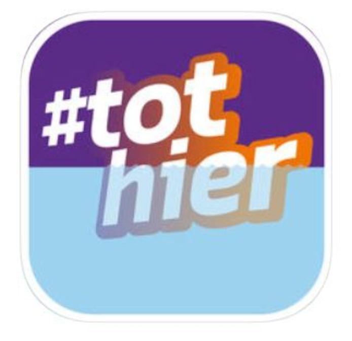 Het icoontje van de hoogwaterapp #tohier!
