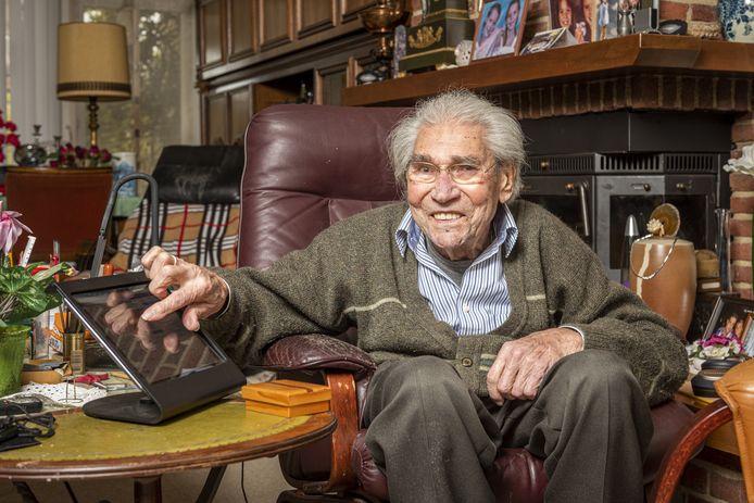 Herman de Grijff tikt volgende week de leeftijd van honderd jaar aan.