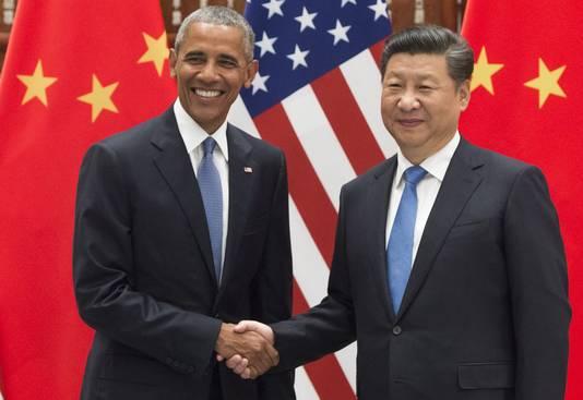 De toenmalige Amerikaanse president Obama en zijn Chinese collega Xi Jinping gooiden het al voor de historische klimaattop van Parijs op een akkoord