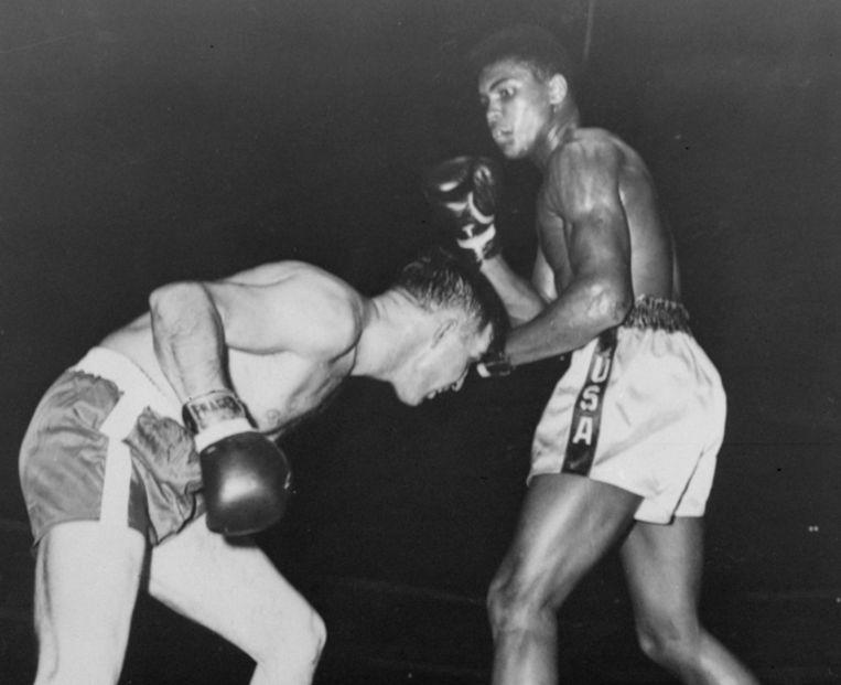 1960, Cassius Clay tegen Tunney Hunsaker Beeld null