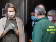 La Reine Mathilde a rendu visite aux banques alimentaires de la province de Liège
